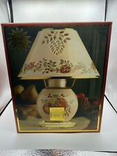 Lenox Boxwood and Pine Candle Lamp New With Box