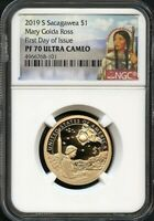 2019 S Sacagawea $1 Mary Golda Ross FIRST DAY OF ISSUE NGC PF70 U.C. Portrait