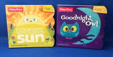 2 Fisher Price Board Books - Good Morning Sun and Goodnight Owl plus CD Music