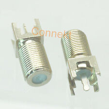 10pcs F TV female with jack center solder for PCB mount RF connector 9.5mmx9.5mm