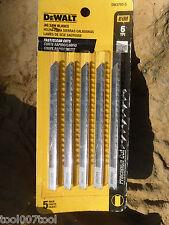 DeWalt  DW3703-5 4-Inch 6 TPI Bi-Metal U-Shank Jig Saw Blades 5 Pack