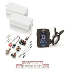 EMG P BASS WHITE  ACTIVE FENDER REPLACEMENT UPGRADE PICKUP (1 FREE DUNLOP TUNER)