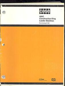 1983 J I CASE PARTS CATALOG  MODEL 480 CK SERIES C TRACTOR / LOADER  & BACKHOE