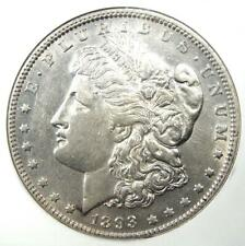 1893 Morgan Silver Dollar $1 Coin - Certified NGC AU53 - Rare Date!