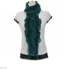 Bufanda de mujer de color principal gris de lana