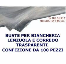 BUSTE BIANCHERIA LENZUOLA COPERTE TOVAGLIE E CORREDO 65X45Cm LAVANDERIE 100pezzi