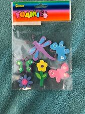 Darice Foamy Stickers - Butterfly, Dragonfly & Flowers - Scrapbooking  Crafts