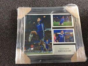 Eden Hazard Signed & Framed 18X16 Photo Display CHELSEA FC AFTAL COA