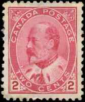Canada #90 mint VF OG H DG 1903 King Edward VII 2c rose carmine