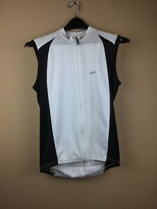 Louis Garneau Woman's Large White Full Zip Bike Cycle Jersey Back Pocket