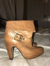 River Island Ladies Ankle Boots Tan Buckles Size 5 RRP £74.99