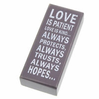 Wooden Sign Love is Patient Romantic Valentines Plaque 5th Anniversary Wedding