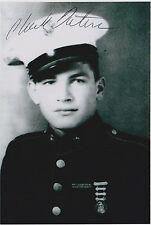 Pfc. Chuck Tatum 4x6 Signed Photo WWII Iwo Jima The Pacific 5th USMC Marines