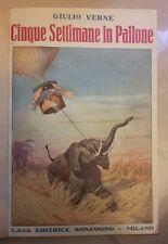CINQUE SETTIMANE IN PALLONE GIULIO VERNE VIAGGI SCOPERTE AFRICA SONZOGNO ANNI 20
