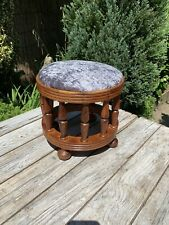 solid wood footstool Spindle Legs New Cover .