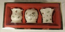 3 Piece Lenox Boxwood And Pine Votives Candle Holders Set New In The Box