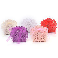 20 Pcs Butterfly Laser Cut Favor Ribbon Gift Box Candy Boxes Wedding Party DecoP