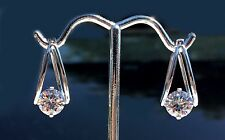 4 ct tw Birdcage Hoops Top Russian Quality CZ Imitation Moissanite Simulant