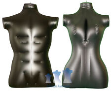 His & Her Special - Inflatable Mannequin - Torso Forms Large, Black