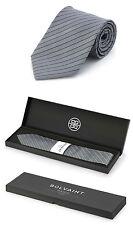 Men's Bolvaint - Tabit Tinsmith Striped Gray Handmade 100% Silk Tie - NEW IN BOX