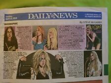 4/15/18 Kesha Biographic COMIC SECTION NEW YORK DAILY NEWS NEWSPAPER Ke$ha