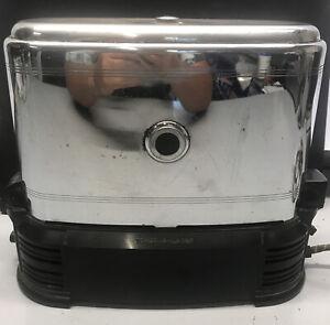 Antique Toast-o-lator Toaster Chrome Bakelite Conveyor Belt Works  model J