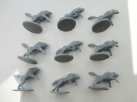 Zombicide Black Plague: 9x extras Wolfz, all figures unused, from Huntsman boxes