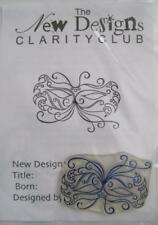 Claritystamp-Clear Stamp-Mardi Gras Masque-avec projet instructions