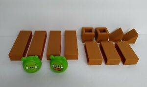 Angry Birds Knock on Wood Space Game Blocks Pigs Pieces Parts Replacement Lot