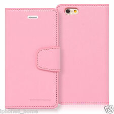 for iPhone 6 & 6s Genuine Mercury Goospery Pink Leather Flip Case Wallet Cover