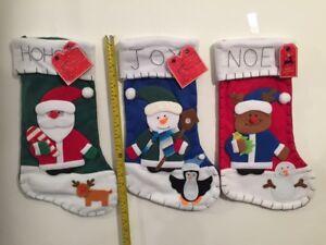 Christmas Xmas decor 3D 45 Cm Xmas Children Stocking Large sack tapestry Random