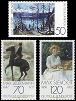 EBS Germany 1978 - Art: German Impressionism - Michel 986-988 MNH**
