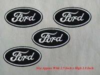 4pcs FORD Racing Car Motorcycle Patch Embroidered Iron or Sew on Coat/Jacket/Hat