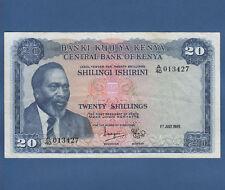 KENIA / KENYA 20 Shillings 1969 VF  P.8 a