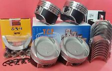YCP 75.5mm Vitara Pistons Teflon Coated Low Comp+NPR+Bearings Honda D16 Turbo
