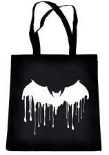 Melting Drip Vampire Bat Black Tote Book Bag Handbag Goth Emo Alternative Grunge