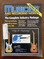 Vintage Int'l Musician & Recording World Magazine - May 1983 NAAM Review Bauhaus