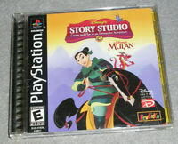 Playstation 1 PS1 Game Disney's Mulan Story Studio COMPLETE TESTED & WORKING