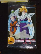 DRAGON BALL Z DBZ MORINAGA WAFER CARD CARDDASS PRISM CARTE 091 JAPAN 3D SEALED