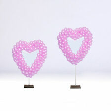 HEART BALLOON FRAME Sale Wedding, Shop Display, Restaurant. 90cm & 15cm poles