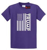 Trump American Flag T Shirt Patriotic USA President Political Tee S-5XL