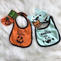 Gertex Baby Bib & Headband Set Halloween Pumpkin Monster Two Sets