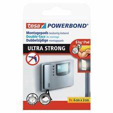 Ruban adhésif double face Tesa Powerband adhésif de montage 9 pièces 60 x 20mm
