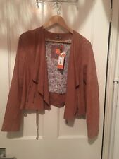 Hugo Boss Orange Ladies Suede Drape Jacket BNWT Size 14