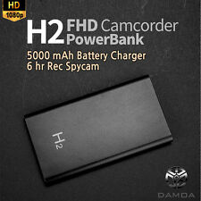 DAMOACAM H2 1080P FHD Hidden Spy Camera Camcorder DVR Night Vision Powerbank