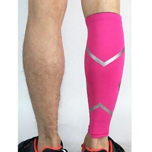 Men Basketball Protector Elastic Sports Stripe Leg Warmers Cycling Pressure Sock