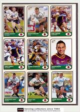 2005 Select NRL Tradition Series Trading Cards Base Team Set Broncos (9)