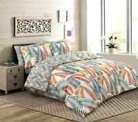 GIFT BEDDING DUVET COVER SET 100% COTTON 200 THREAD COUNT DOUBLE SUPER KING SIZE