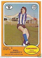 1973 B Scanlens (34) Phil DOHERTY North Melbourne # Excellent #