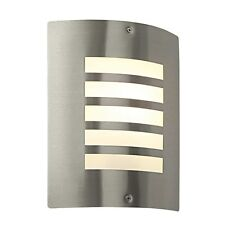 Saxby Bianco Outdoor Wall Light Opal Pc Bianco 1lt IP44 60W E27 GLS